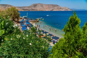 Nos Beach in Symi
